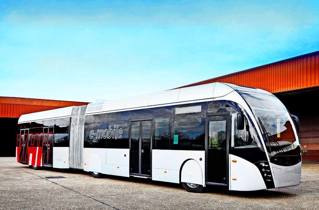 In mehreren französischen Städten werden Schnellbusse eingesetzt, in Deutschland ist die Technik weitgehend unbekannt. Foto: van Hool
