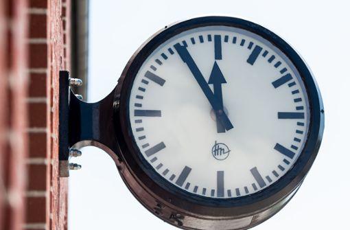 Uhren wurden nicht zurückgestellt