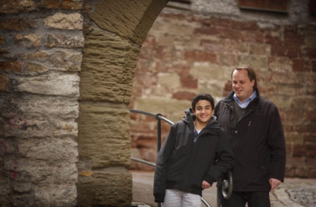 Manuel Häußer (rechts) und sein Neffe Robin Fayazi Foto: Gottfried Stoppel