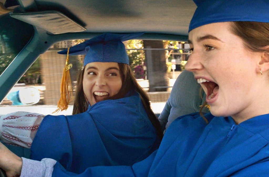 """Zwei Mädchen  geben Vollgas: Beanie Feldstein (links) und Kaitlyn Dever in """"Booksmart"""" Foto: /Annapurna Pictures/Verleih"""