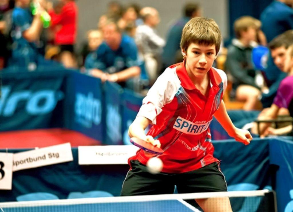 Bernd Müller ist eines der Nachwuchstalente des DJK Sportbund Stuttgart. Der 15-Jährige spielt in der Herren-Landesliga. Foto: privat