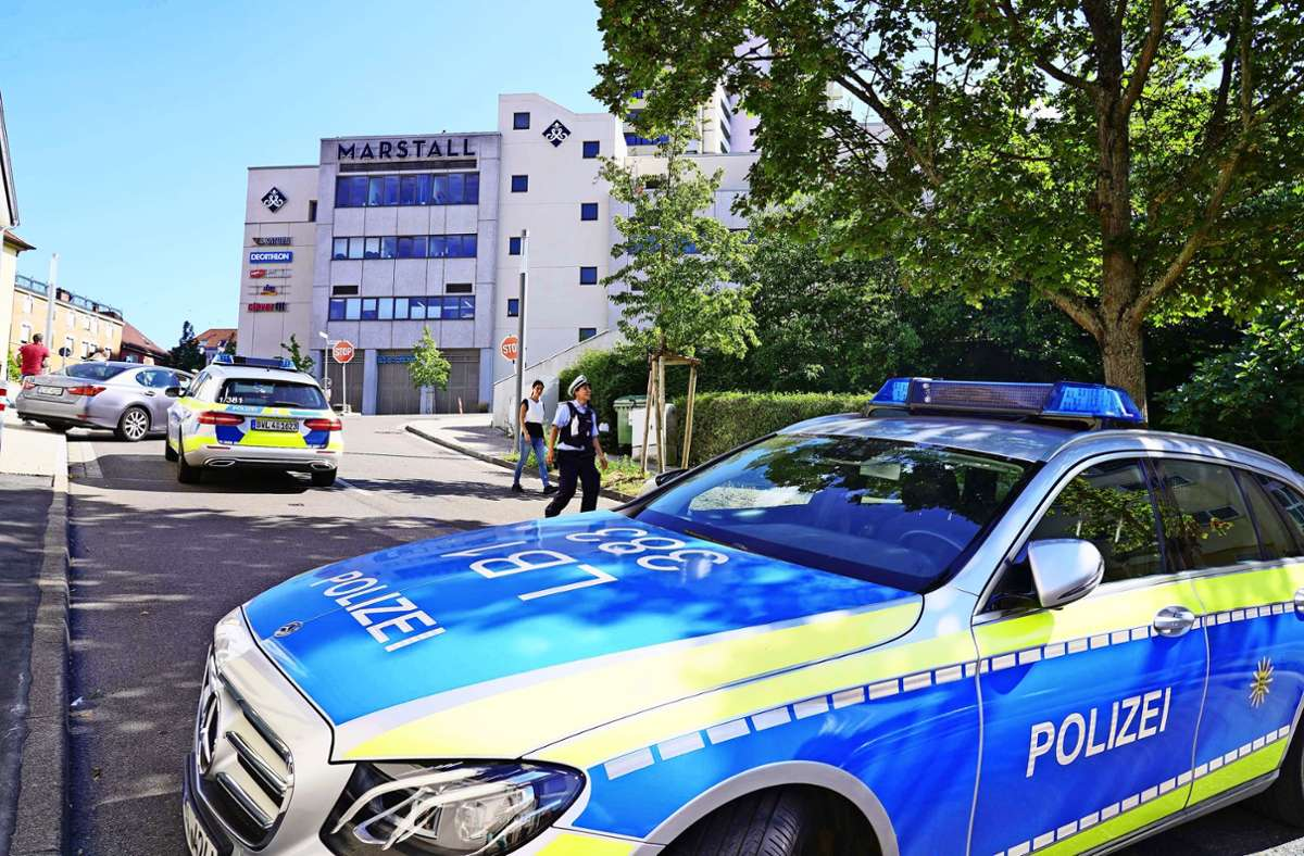 Tatort Marstall Center: Fahndung in Ludwigsburg. Foto: Andreas Rosar