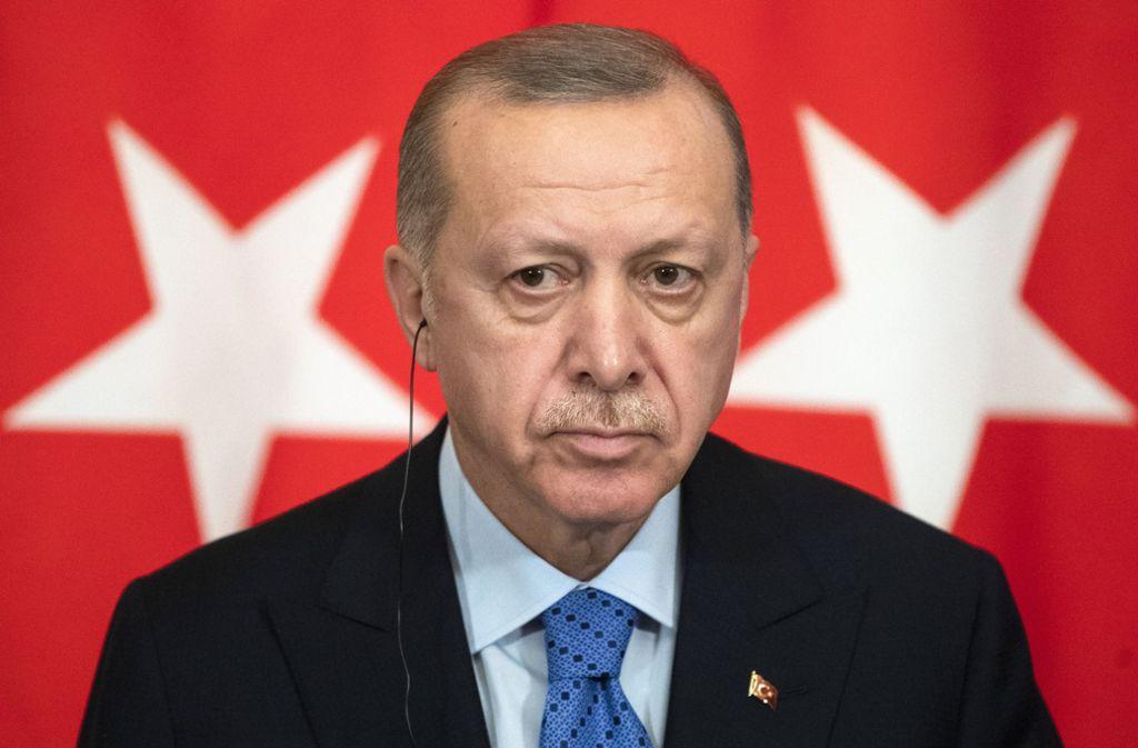 Präsident Recep Tayyip Erdogan hat den Rücktrittsgesuch seines Innenministers abgelehnt. Foto: dpa/Pavel Golovkin