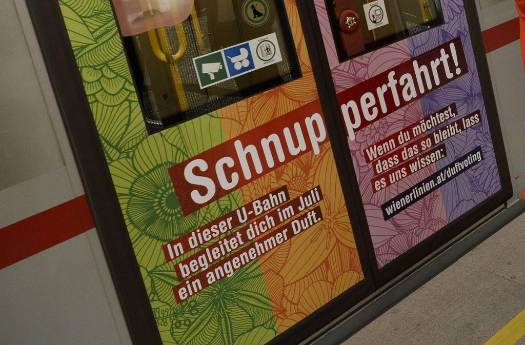 In Wien wird das U-Bahnfahren zum Dufterlebnis. Foto: dpa