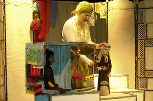 Aladin als Figuren-Theater