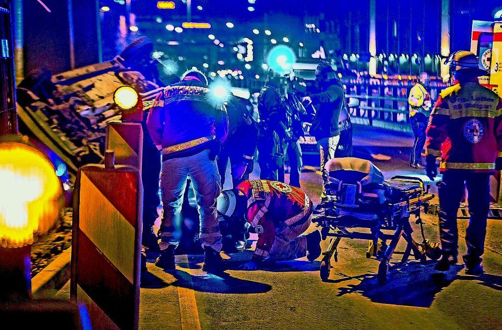 Bei der Aufnahme dieses Unfalls sollen vier Beamte einen Mann zu hart angegangen sein, lautet der Vorwurf. Foto: 7aktuell.de/Simon Adomat
