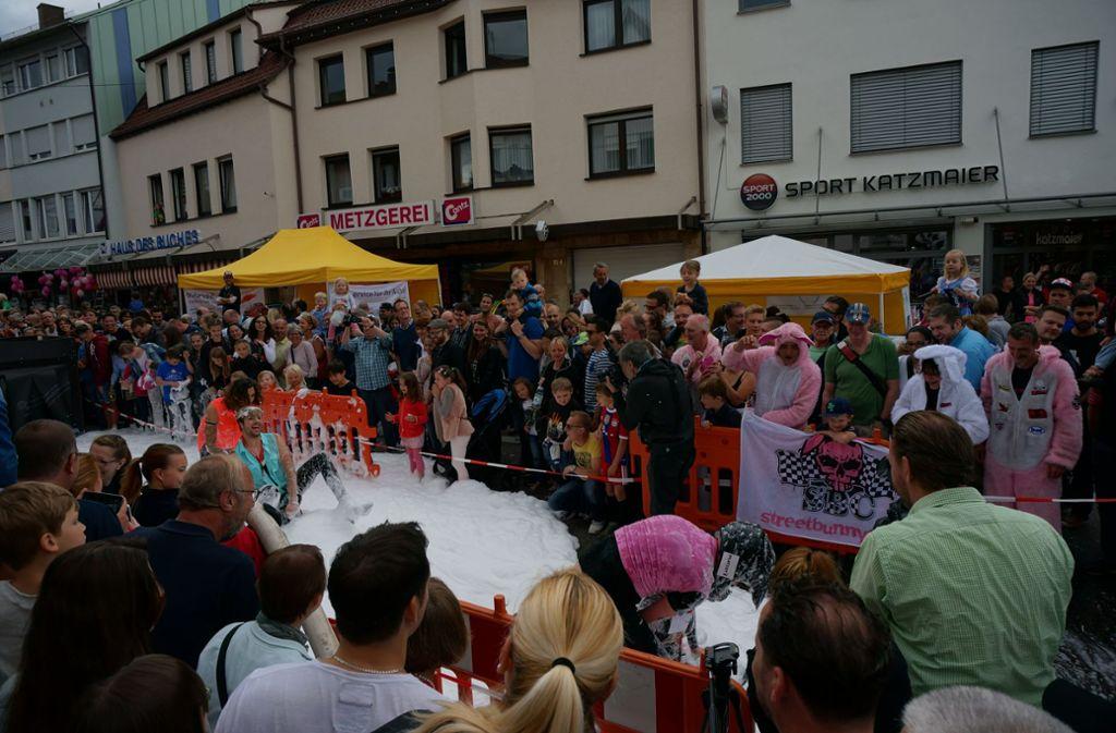 Das Bobby-Car-Rennen ist jedes Jahr ein Höhepunkt beim Degerlocher Sommer. Foto: Archiv Leonie Thum