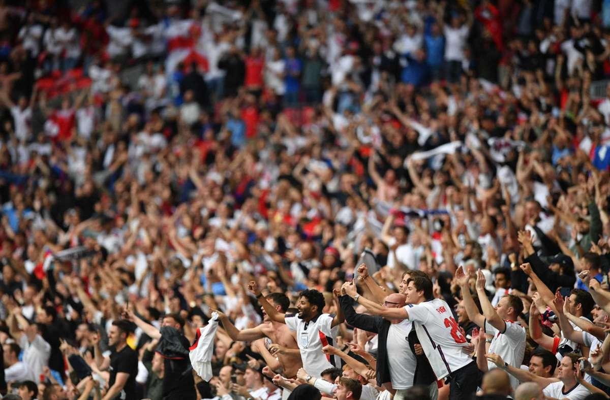 In Wembley werden zu den Halbfinals 60.000 Zuschauer erwartet. Foto: AFP/JUSTIN TALLIS