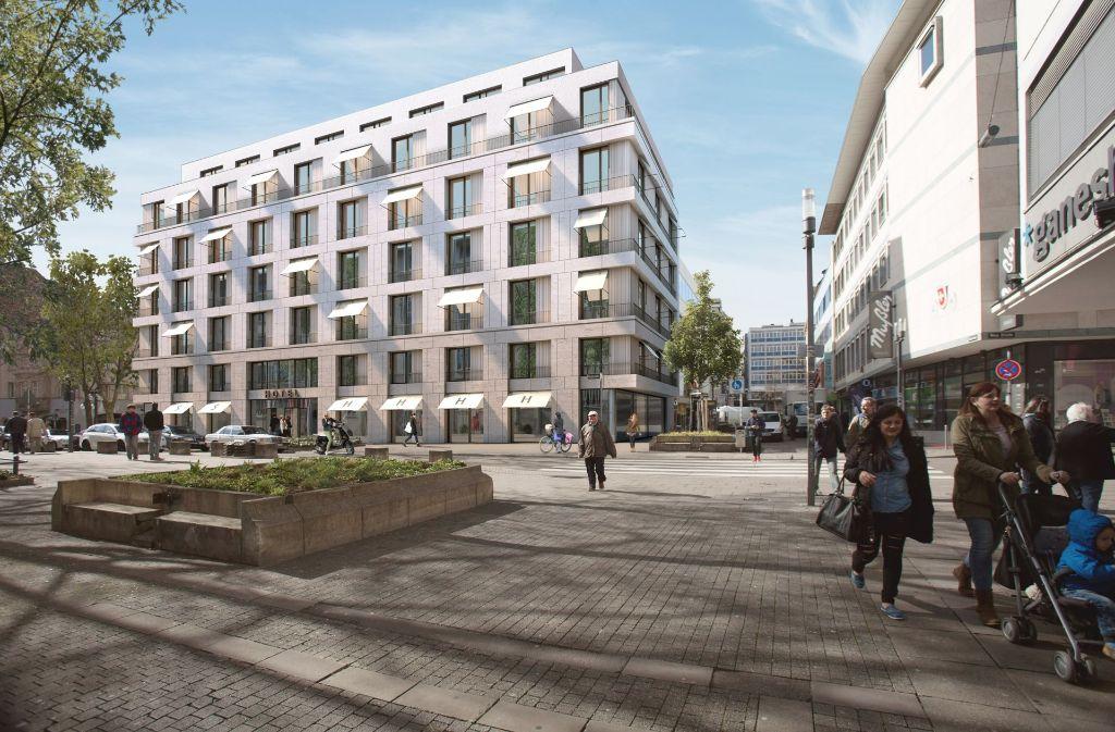 So könnte das neue Hotel an der Nadlerstraße aussehen Foto: ALDINGER+WOLF