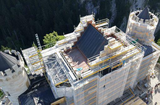 Besuch auf der Baustelle Neuschwanstein