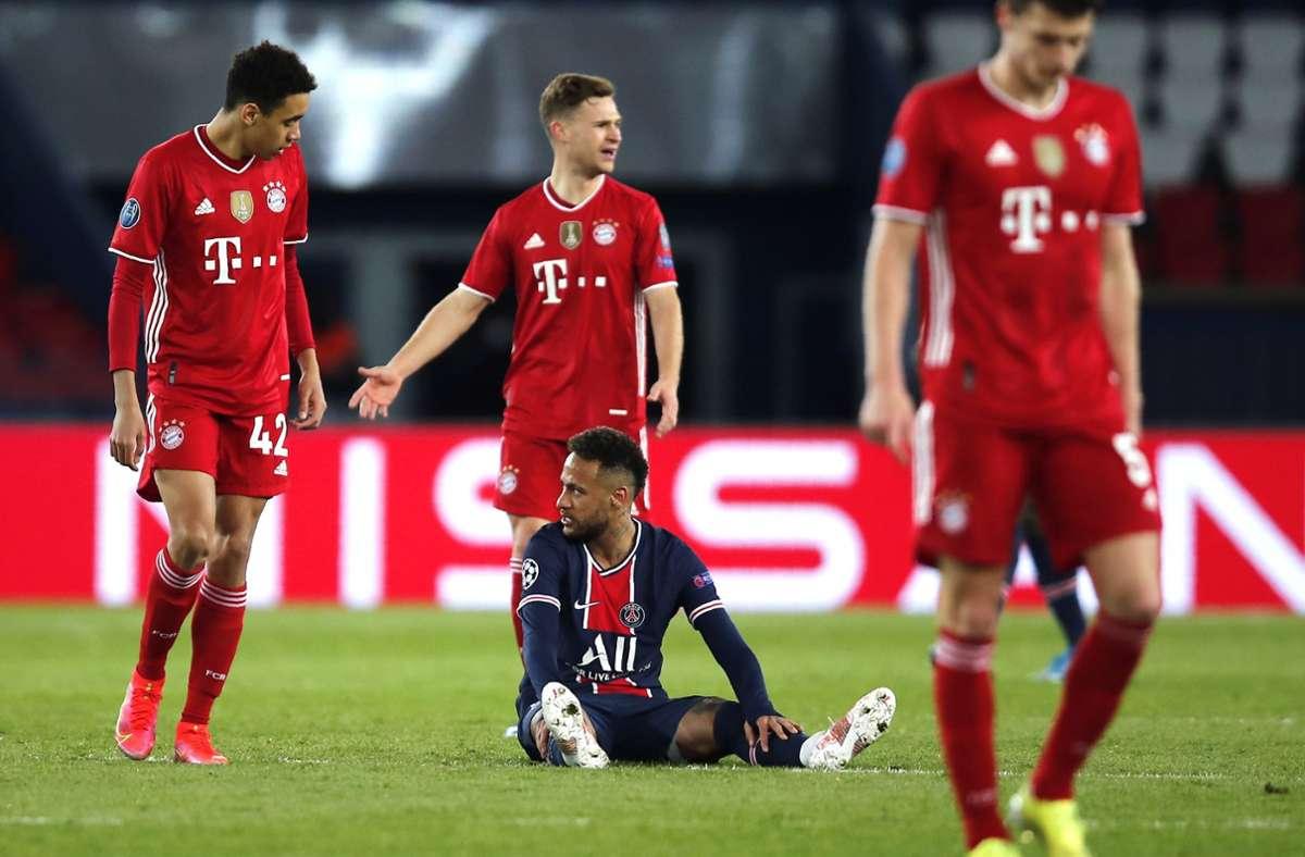 Aus in der Champions League: Dem Fußball-Bundesligisten reichte nach der 2:3-Niederlage im Hinspiel am Dienstag bei Paris Saint-Germain auch ein 1:0 (1:0)-Sieg nicht zum Weiterkommen. Foto: dpa/Francois Mori