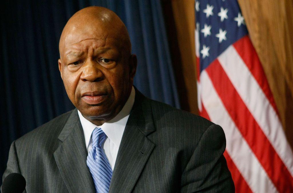 Elijah Cummings ist am Donnerstagmorgen verstorben. Foto: AFP/MARK WILSON