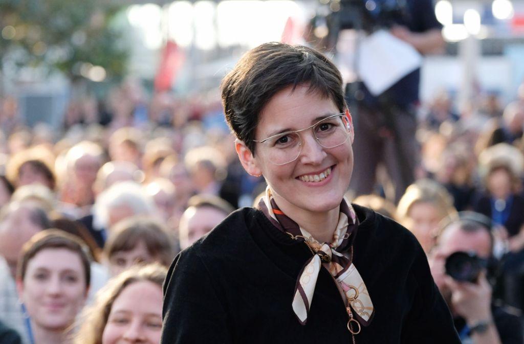 Anke Stelling wurde mit dem Preis der Leipziger Buchmesse ausgezeichnet. Foto: dpa