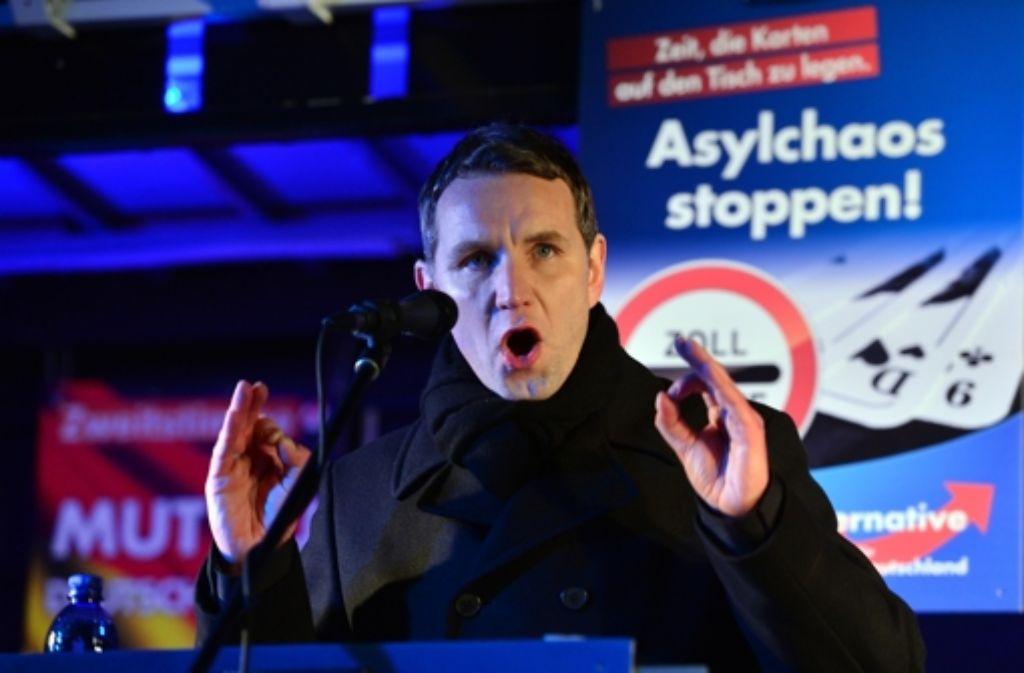Björn Höcke, Chef der AfD in Thüringen, polarisiert. Foto: dpa