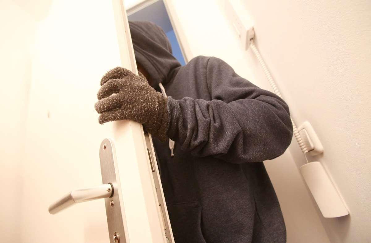 Die Diebe brachen beide Male die Haustür auf (Symbolbild). Foto: dpa/Bodo Marks