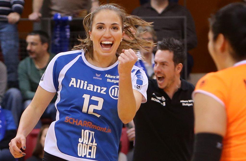 Altbekannte im Allianz-Trikot: Athina Papafotiou kehrt nach Stuttgart zurück. Foto: Baumann