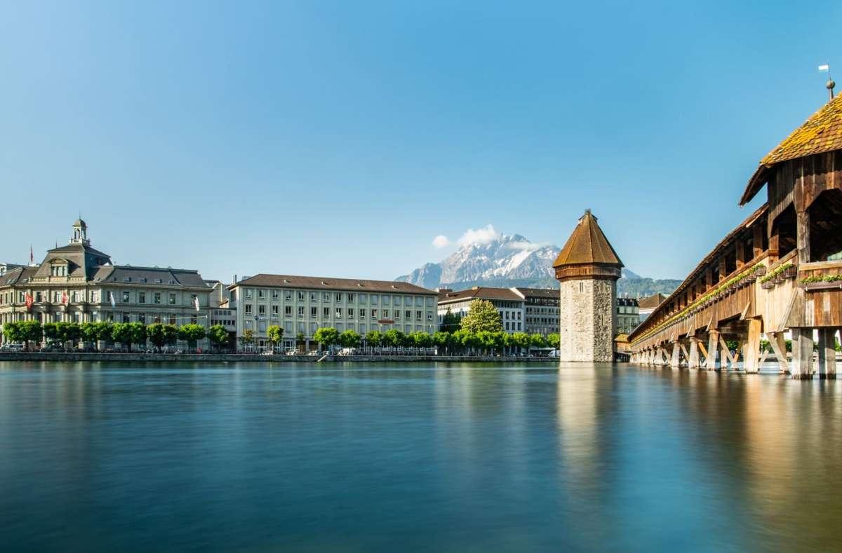 Luzern ist der Ausgangspunkt zur Erlebnisregion Luzern-Vierwaldstättersee   Foto: Luzern Tourismus/ Elmar Bossard