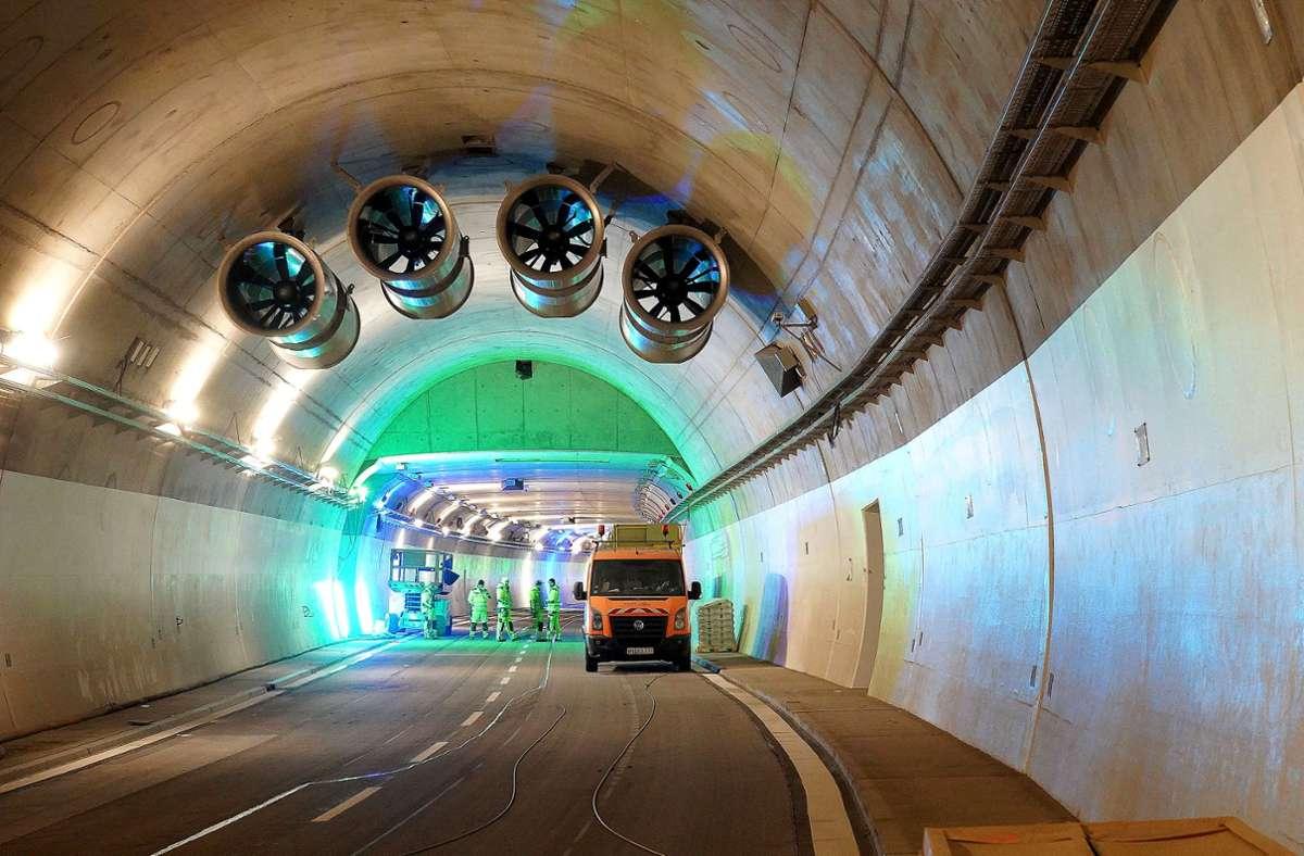 Einblick in den Rosensteintunnel. Foto: Andreas Rosar Fotoagentur-Stuttgart