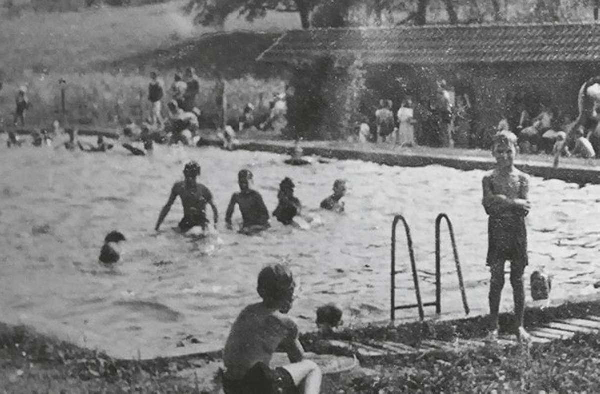 Das Freibad in Erbstetten anno 1940 –  es wurde   1938 erbaut. Foto: Bädlesverein