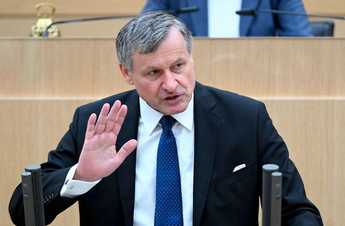FDP-Fraktionschef Hans-Ulrich Rülke Foto: dpa/Bernd Weissbrod