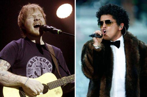 Ed Sheeran singt Ständchen für Bruno Mars