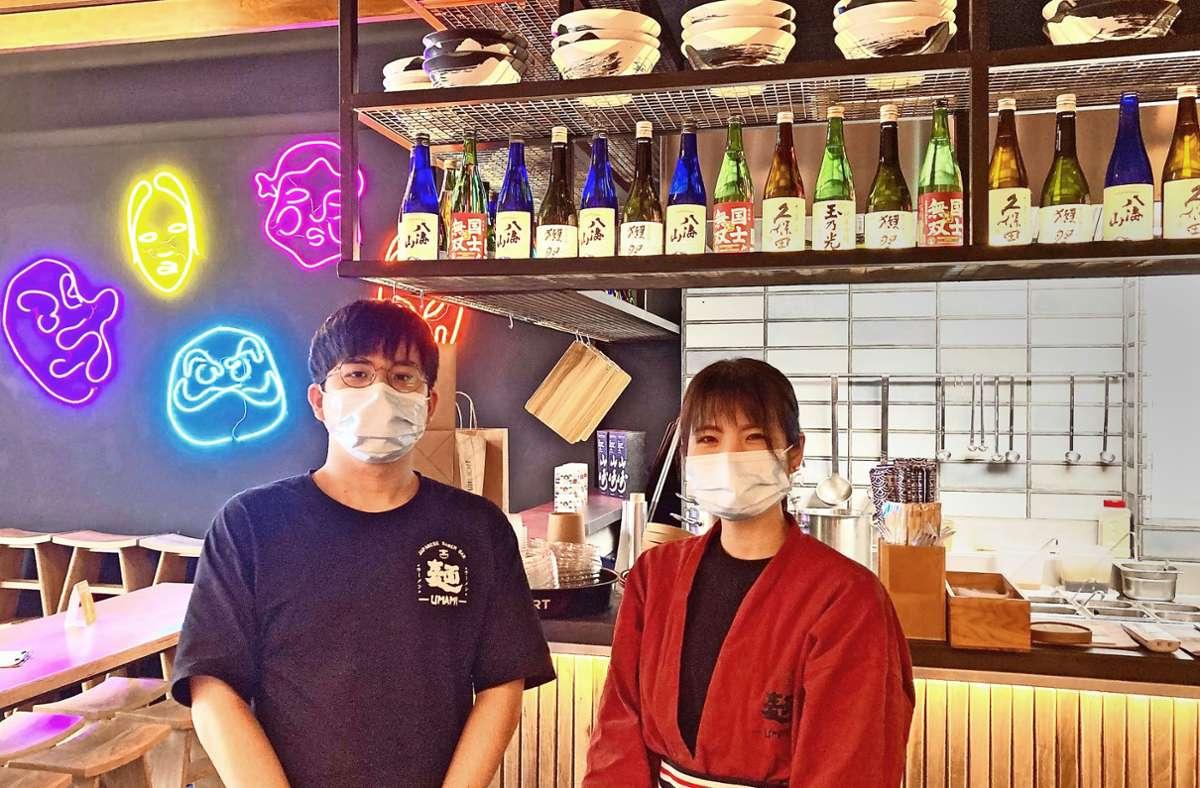 In der Küche und im Service: Yujiro Egashira und Miki Fujisawa Foto: StZ/Ring