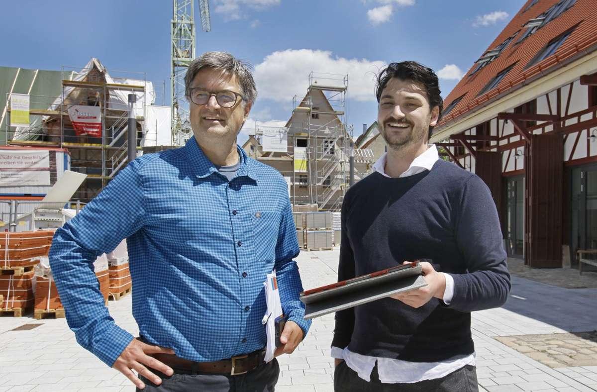 Moderne Technik und historische Gebäude: Christoph Knepel (links) und Matthias Binninger Foto: Horst Haas