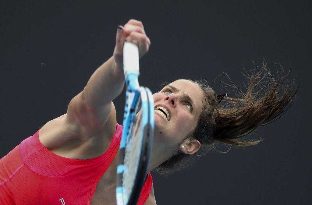 Julia Görges ist eine der deutschen Spielerinnen, die in Melbourne antreten. Sie konnte ihr Auftaktmatch gewinnen. Foto: imago images/Hasenkopf