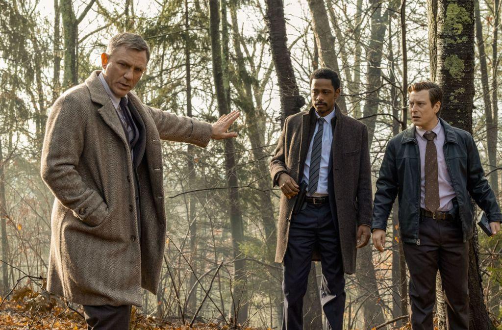 Achtung, keine Spuren zertrampeln: Daniel Craig, LaKeith Stanfield und Noah Segan (v. li.) Foto: Universum Film