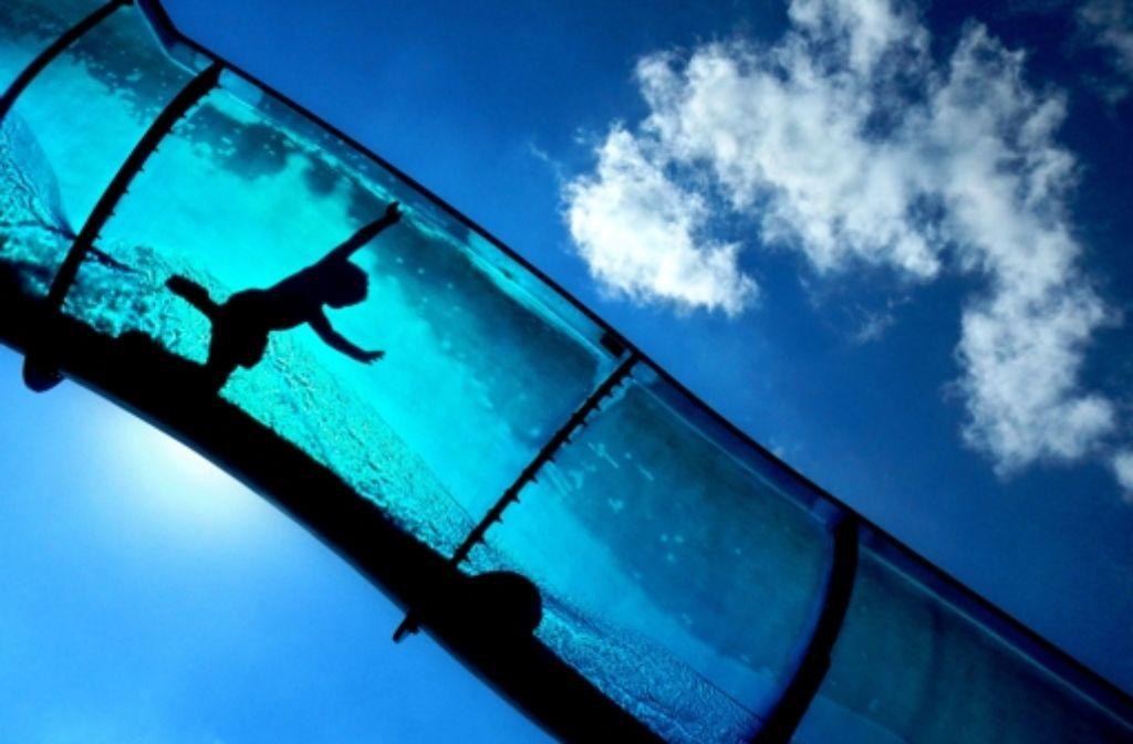 Wer sich allein nicht auf die Wasserrutsche traut, ist ein Kandidat für ein Leihkind. Foto: dpa