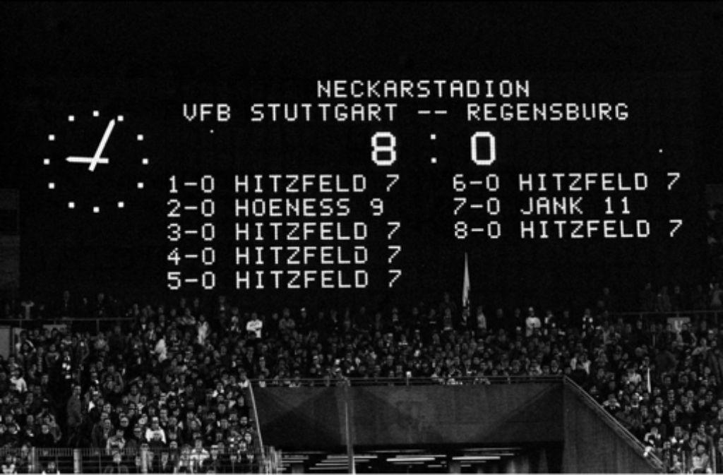 Kantersieg mit Ottmar Hitzfeld: am 13. Mai 1977 trifft er sechs Mal. Foto: Baumann