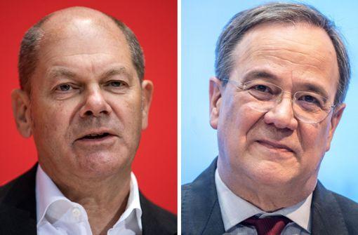 Olaf Scholz überholt Armin Laschet bei Kanzlerfrage