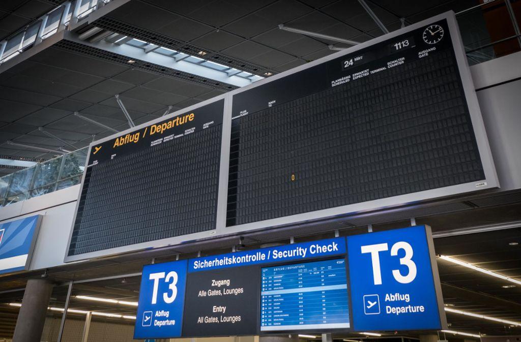 Fast nichts geht mehr am Flughafen Stuttgart. In solch einer prekären Situation über einen Ausbau nachzudenken, hält das öko-soziale Bündnis im Gemeinderat für abwegig. Foto: Lichtgut/Achim Zweygarth