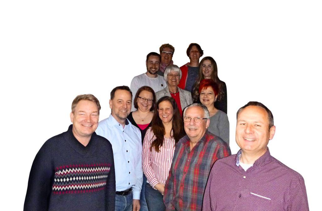 Die Kandidaten der SPD Heimsheim. Nicht im Bild: Siegfried Schilling und Anna Damm Foto: SPD Heimsheim