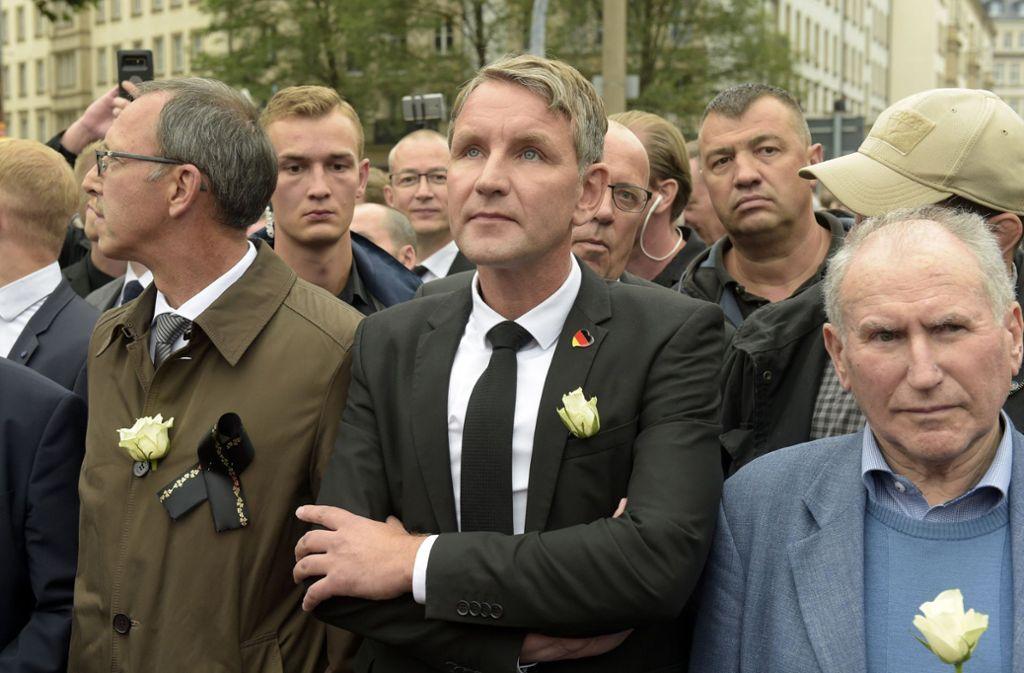 Bei Teilen der AfD – wie hier Björn Höcke –  zweifelt manch einer an der Grundgesetz-Treue. Foto: AP