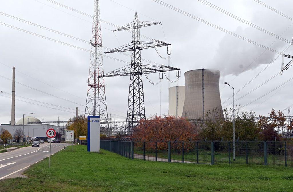 Ab Silvester inaktiv: Das Atomkraftwerk Philippsburg 2 (Archivbild). Foto: picture alliance/dpa/Uli Deck