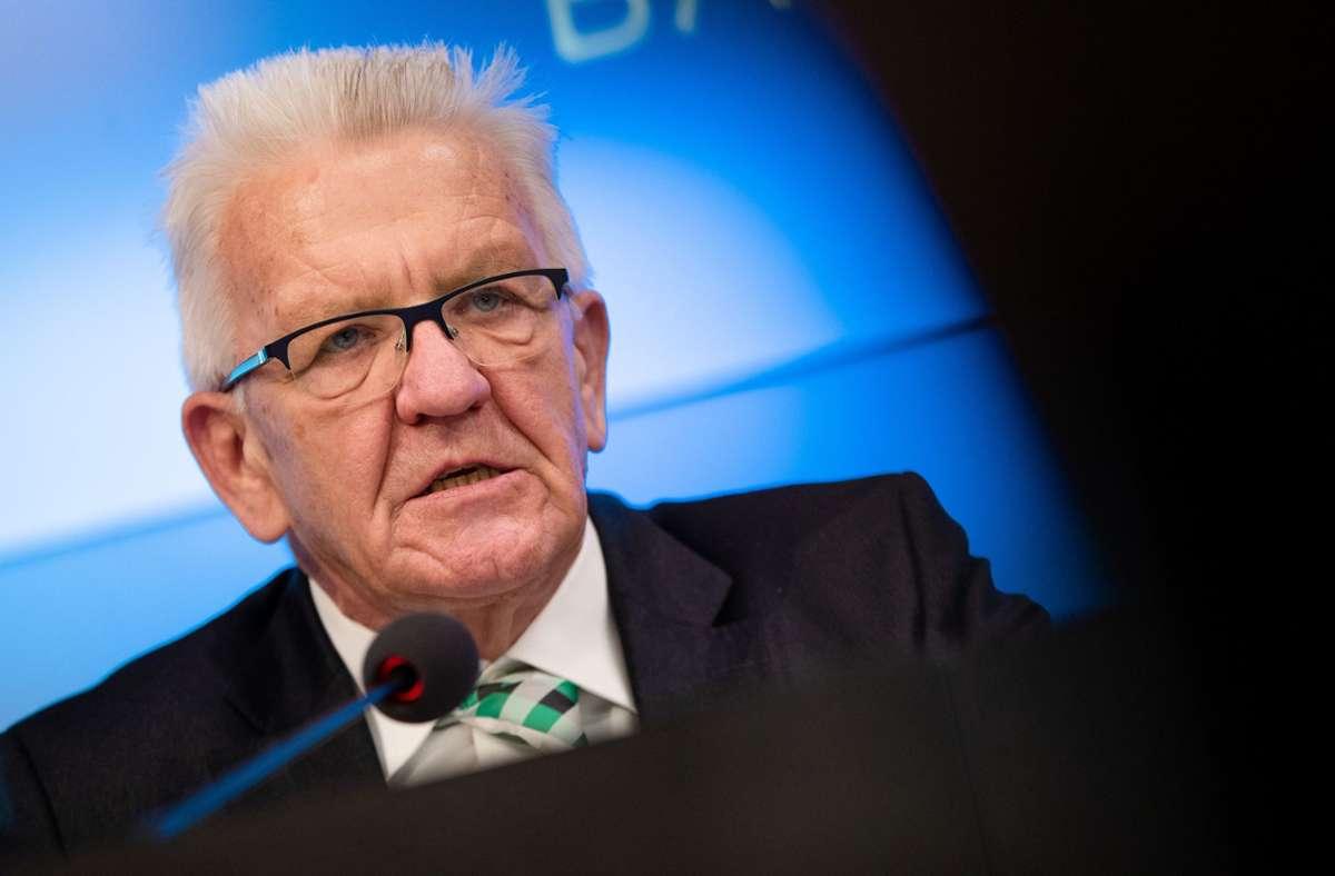 Auch Ministerpräsident Winfried Kretschmann hat Drohbriefe der RAZ erhalten. Foto: dpa/Christoph Schmidt