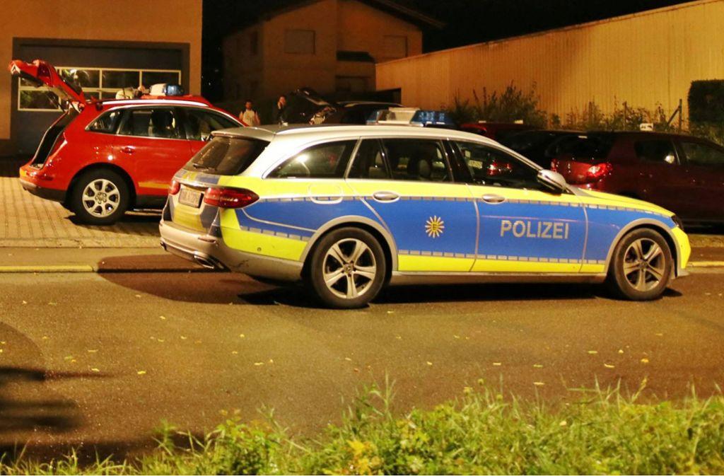 Die Polizei war mit zwei Streifenwagen vor Ort. Foto: 7aktuell.de/Kevin Lermer