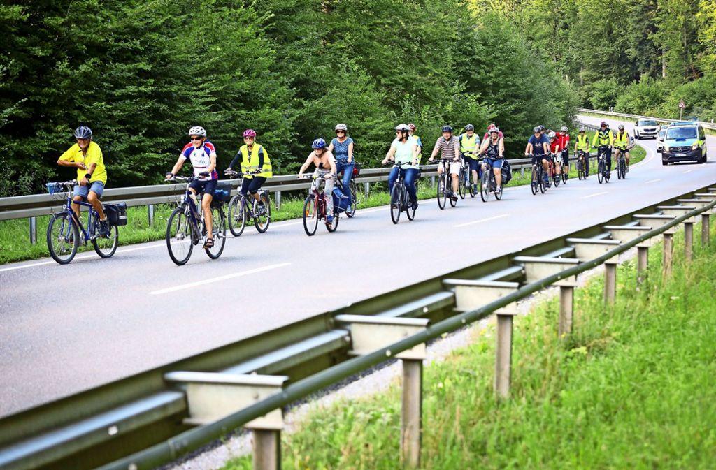 Passionierte Radfahrer haben sich lange für den Radweg zwischen Malmsheim und Perouse eingesetzt. Foto: factum//Simon Granville