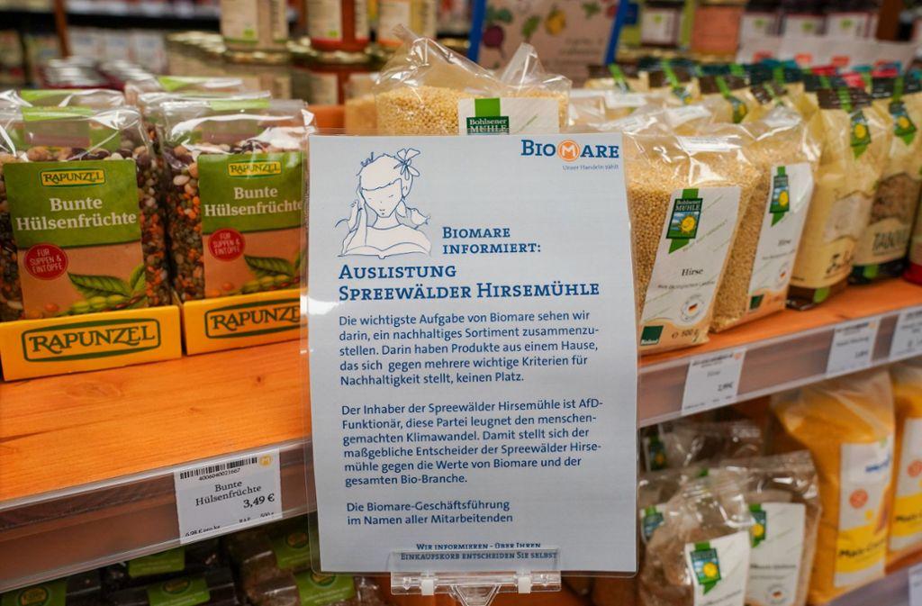 Der Supermarkt hatte schon im Juli die Hirse-Produkte ausgelistet. Foto: dpa/Peter Endig