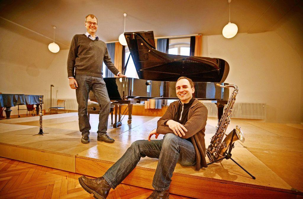 Günther Neher (li.) und Heiko von Roth sind davon überzeugt, dass ihre Musikschulen eine Zukunft haben. Foto: Gottfried Stoppel