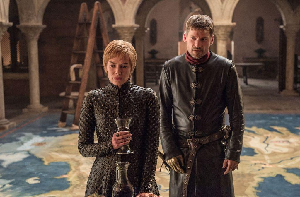 """Auch sie werden uns irgendwann fehlen: Die schrecklichen Geschwister Cersei (Lena Headey) und Jaime Lannister (Nikolaj Coster-Waldau) haben die Serie """"Game of Thrones"""" mit geprägt. Foto: HBO"""