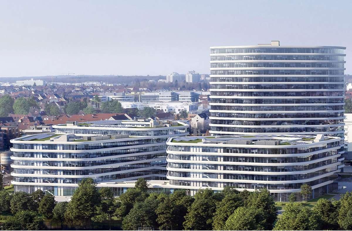 So soll der Allianz-Neubau an der Heßbrühlstraße einmal aussehen. Foto: Allianz