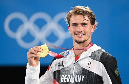 So gratulieren Kerber und Haas dem Olympiasieger Zverev