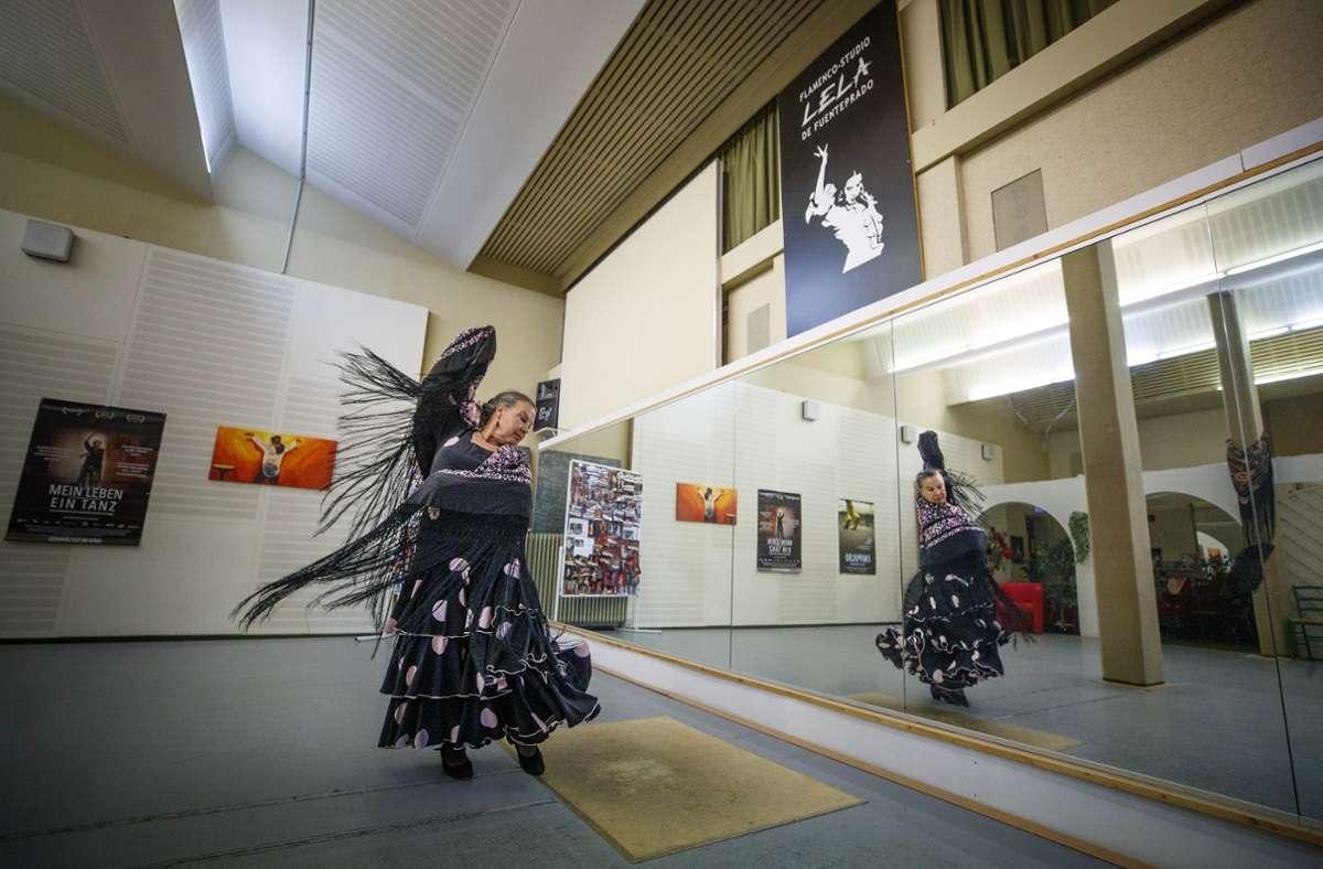 Lela de Fuenteprado sucht derzeit nach einer Nachfolge für ihr Flamenco-Studio Foto: Gottfried Stoppel/Gottfried Stoppel