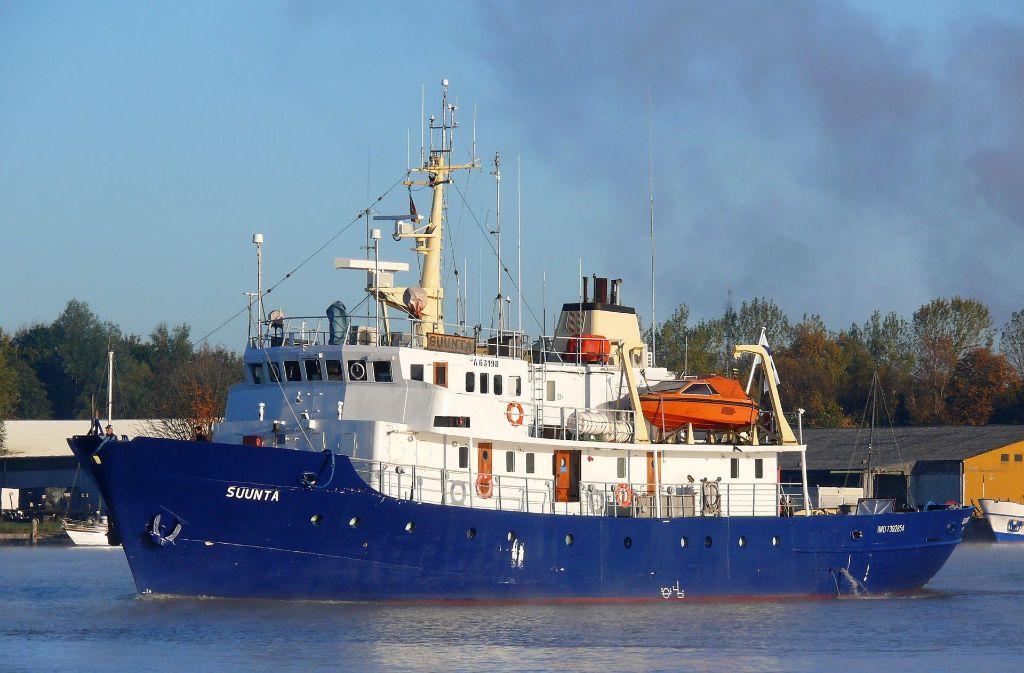 Die C-Star, die hier noch den Namen Suunta trägt, fährt unter mongolischer Flagge. Mit dem Schiff sollen Flüchtlinge auf dem Mittelmeer aufgehalten werden. Foto: dpa