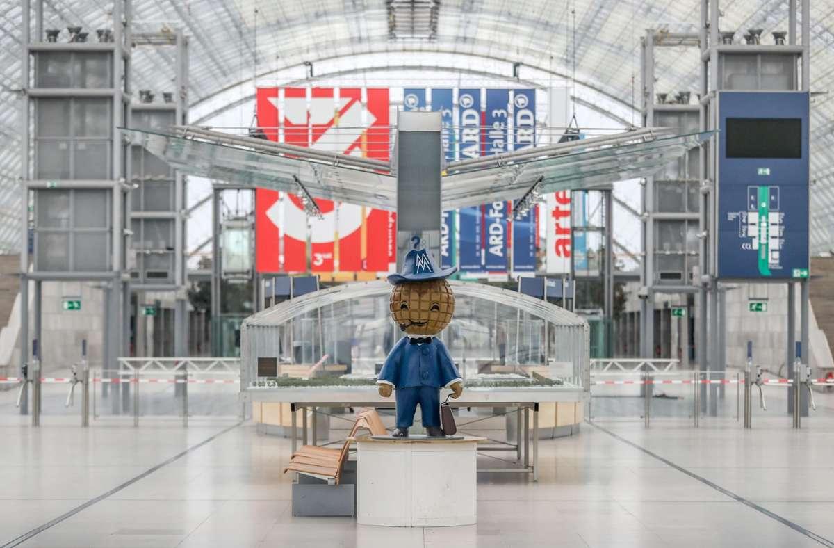 Wieder nichts. auch 2021 bleiben die Halle des Leipziger Bücherfests leer. Foto: picture alliance/dpa/Jan Woitas