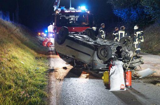 Fahrer nach Verfolgungsjagd schwer verletzt