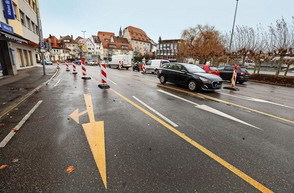 Die Baustelle auf der Herrenberger Straße zieht weiter. Foto: factum/Simon Granville