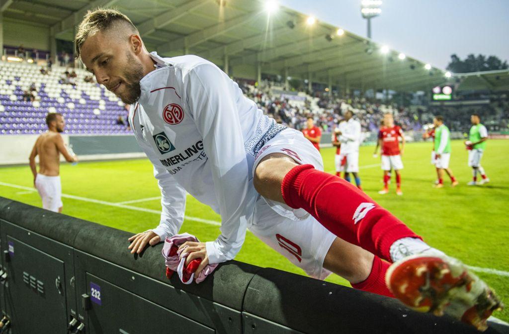 Der Spieler des Spiels: Alexandru Maxim trifft zweimal für den FSV Mainz 05. Foto: dpa